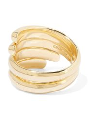 Elizabeth and James - Metallic Pearce Set Of Two Gold-tone Crystal Rings - Lyst