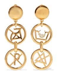 Moschino | Metallic Gold-tone Earrings | Lyst
