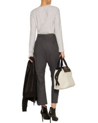 Rick Owens - Gray Cotton Straight-leg Pants - Lyst