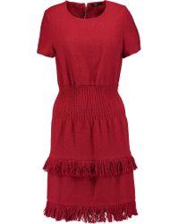 Maje | Rabata Tiered Tweed Mini Dress | Lyst