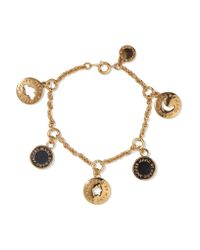 Marc By Marc Jacobs - Black Gold-tone And Enamel Bracelet - Lyst