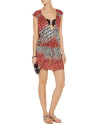 ViX - Red Molly Printed Voile Coverup - Lyst