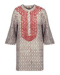 Figue - Multicolor Jasmine Bead-embellished Printed Cotton-gauze Tunic - Lyst