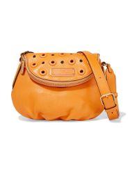Marc By Marc Jacobs | Orange Natasha Mini Embellished Textured-leather Shoulder Bag | Lyst