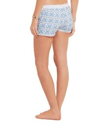 Melissa Odabash - Blue Carolina Embroidered Cotton Shorts - Lyst