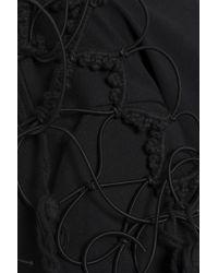 Simone Rocha - Black Lace-up Cotton-jersey T-shirt - Lyst