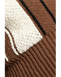 J.W. Anderson - Brown Stretch-cotton Sweater - Lyst