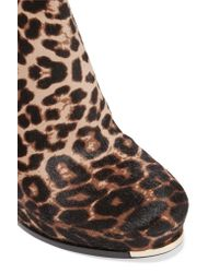 Michael Kors | Brown Layton Leopard-print Calf Hair Ankle Boots | Lyst