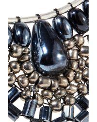 Kenneth Jay Lane - Metallic Silver-tone Beaded Earrings - Lyst