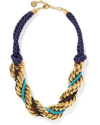 Ben-Amun   Metallic Braided Cord And Gold-plated Necklace   Lyst
