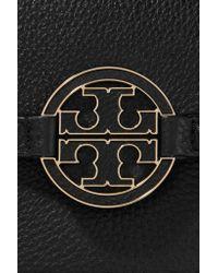 Tory Burch - Black Amanda Textured-leather Shoulder Bag - Lyst