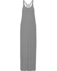 Norma Kamali   Black Striped Stretch-jersey Maxi Dress   Lyst
