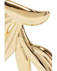 Noir Jewelry | Metallic Gold-tone Choker | Lyst