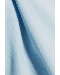 Splendid - Blue Frayed Denim Dress - Lyst