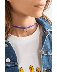 DANNIJO - Purple Vix Velvet, Silver-plated And Swarovski Crystal Choker - Lyst