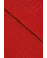 W118 by Walter Baker - Red One-shoulder Ribbed-knit Mini Dress - Lyst