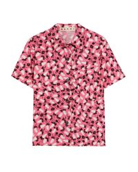 Marni Printed Cotton-poplin Shirt Pink