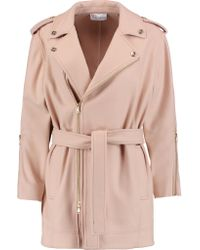 RED Valentino | Multicolor Belted Brushed Wool-blend Coat | Lyst