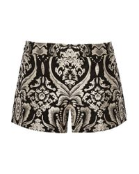 Alice + Olivia | Black Jacquard Shorts | Lyst