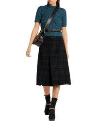 Bottega Veneta - Blue Metallic Ribbed Wool-blend Sweater - Lyst