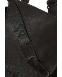 Fleur du Mal | Black Silk-lined Leather Soft-cup Triangle Bra | Lyst