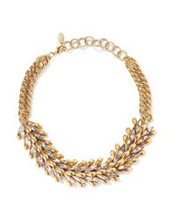 Elizabeth Cole | Metallic Eden Burnished Gold-tone Crystal Choker | Lyst