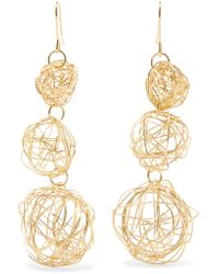 Kenneth Jay Lane - Metallic Gold-tone Earrings - Lyst
