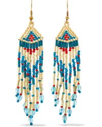 Kenneth Jay Lane | Metallic Gold-tone Beaded Earrings | Lyst