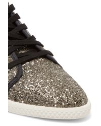 Marc By Marc Jacobs - Black Glittered Canvas Sneakers - Lyst
