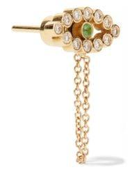 Ileana Makri - Metallic Chained Eye 18-karat Gold, Diamond And Tsavorite Earrings - Lyst