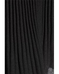 MICHAEL Michael Kors | Black Pleated Georgette Top | Lyst