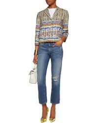 Stella Jean - Blue Printed Woven Cotton Jacket - Lyst