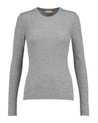 Michael Kors | Gray Ribbed Merino Wool Sweater | Lyst