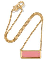 Marc By Marc Jacobs - Pink Gold-tone Enamel Necklace - Lyst