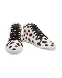 Marc By Marc Jacobs - White Polka-dot Canvas High-top Sneakers - Lyst