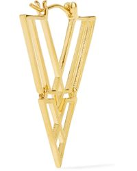Noir Jewelry | Metallic Clan Gold-tone Earrings | Lyst