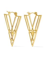 Noir Jewelry | Metallic Clan Gold-tone Earrings | Lyst