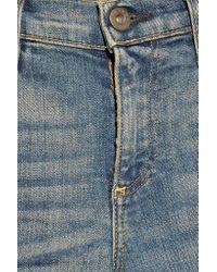 Simon Miller - Blue Distressed Mid-rise Slim-boyfriend Jeans - Lyst