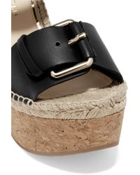 Paloma Barceló | Black Nicole Leather Wedge Sandals | Lyst