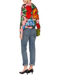 Love Moschino - Multicolor Printed Cotton-blend Sweatshirt - Lyst