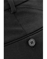 Helmut Lang | Black Cropped Wool-blend Straight-leg Pants | Lyst