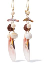 Rosantica | Pink Gold-tone Stone Earrings | Lyst