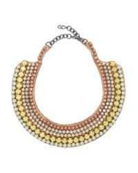 Valentino - Metallic Silver-tone Beaded Necklace - Lyst