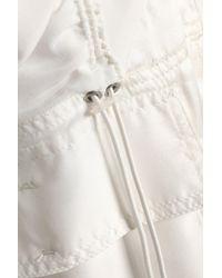 3.1 Phillip Lim - White Paneled Ruched Printed Silk-satin Jacket - Lyst