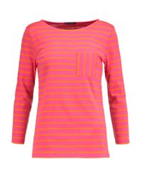 Petit Bateau | Pink Striped Cotton-jersey Top | Lyst