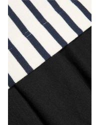 Petit Bateau - Black Layered Striped Cotton Dress - Lyst