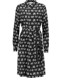 Moschino | Black Symbols Print Shirt Dress | Lyst