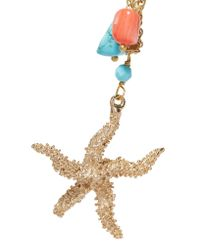 Rosantica - Blue Gold-tone Charm And Stone Necklace - Lyst