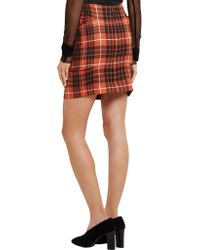 Vivienne Westwood Anglomania - Red Mcbrick Tuck Tartan Wool Skirt - Lyst