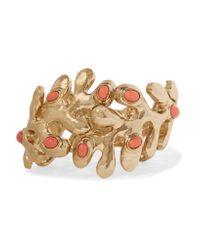 Oscar de la Renta   Metallic Sea Tangle Gold-tone Resin Bracelet   Lyst